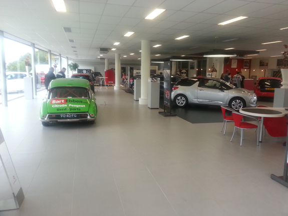 Bart Ebben Citroen DS Rally in showroom Ede(NL) at the DS Racing show