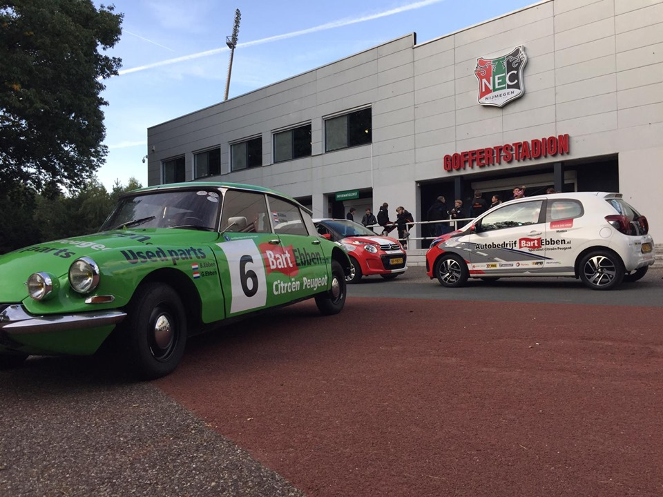 Citroen DS Rally als VIP Taxi op Global Montessori Games Nijmegen 2019 - Goffert NEC