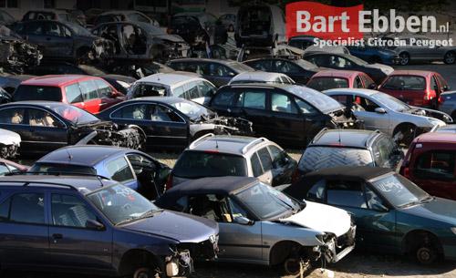 Voorraad afbraakauto's Peugeot & Citroen, zoek hier uw onderdeel