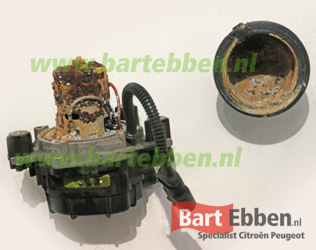 Citroen C3 1.4 EGR secundaire luchtpomp corrosie door vocht binnenwerk defect