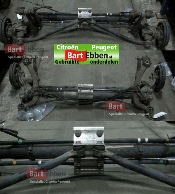 Peugeot 206 SW achteras remtrommels met ABS